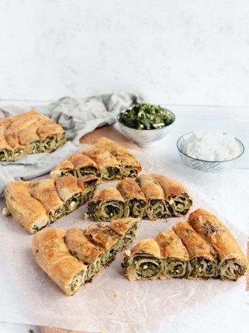 spinach swirl pie