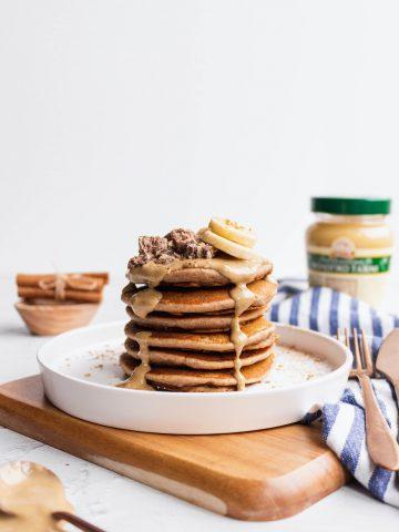 tahini pancakes
