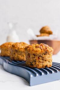 Savory zucchini mushroom muffins
