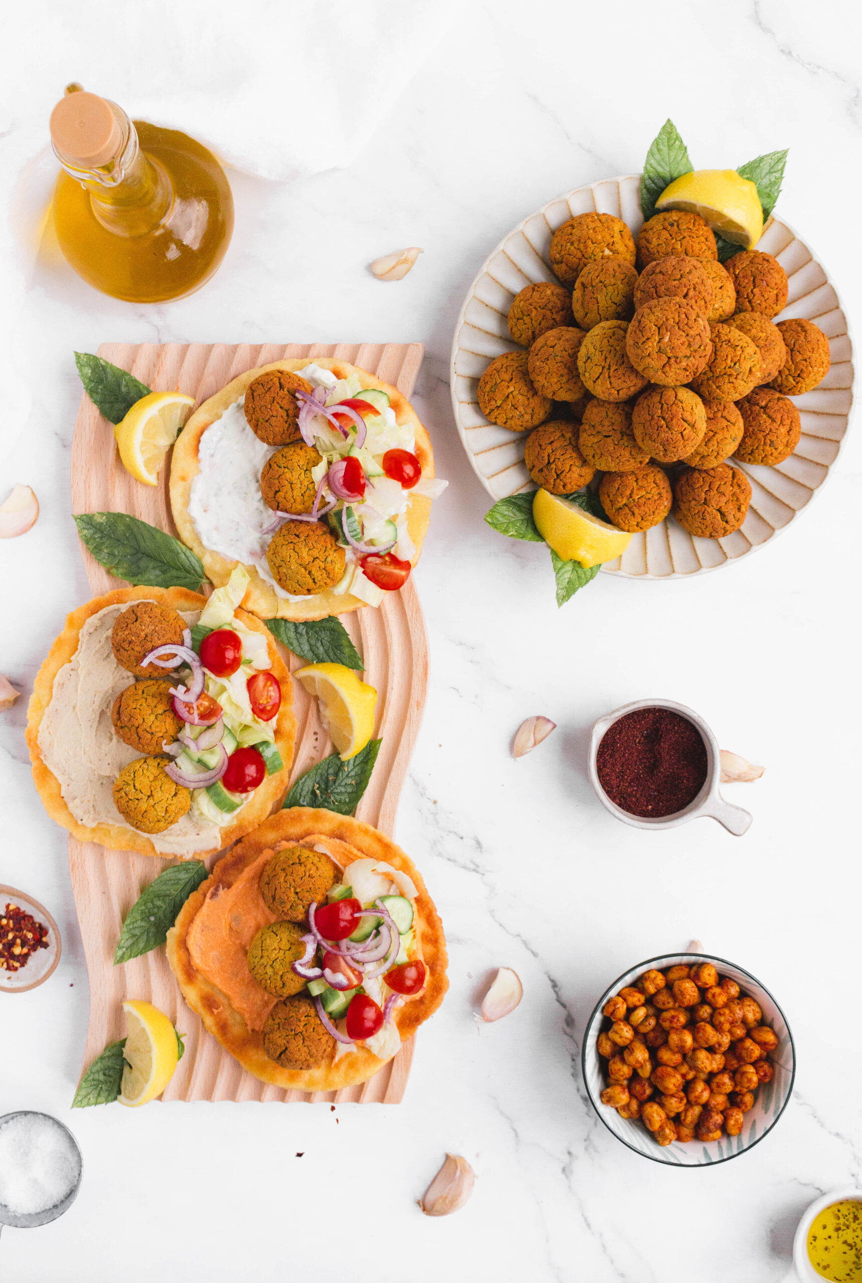 falafel plate & serving